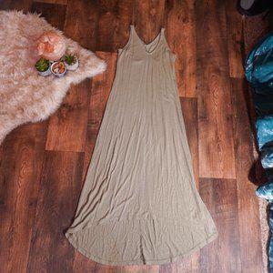 Olive BOHO style maxi dress